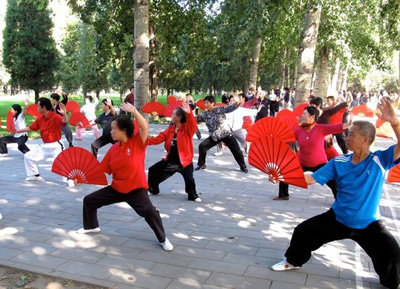 Exercising in China